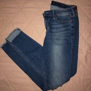 Dark Low Rise Skinny Jeans